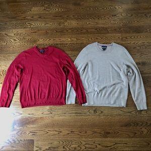 Set of 2 Banana Republic sweaters men's